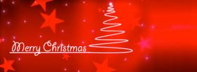 stars and christmas tree facebook cover