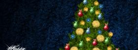 free christmas tree with ornaments facebook cover
