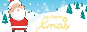 funny santa claus and mountains facebook cover