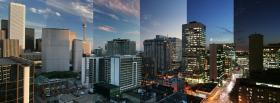 free city time lapse photography facebook cover