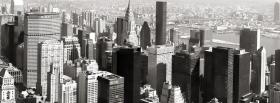 free black and white panorama new york 2012 facebook cover
