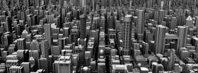 black and with 3d city facebook cover