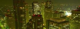 at night japan city facebook cover