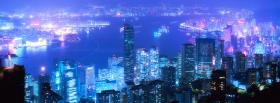beautiful city lights and buildings facebook cover