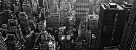 free black and white new york buildings facebook cover