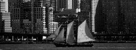 free black and white sailboat facebook cover