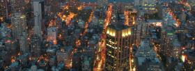 city scape at night facebook cover