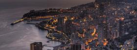 free city beautiful monaco at night facebook cover