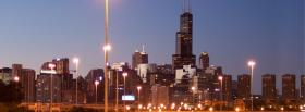 city chicago view of buildings facebook cover