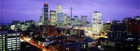 free city night in toronto canada facebook cover
