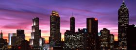 city purple pink sky atlanta facebook cover