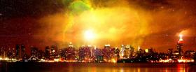 city chicago night skyline facebook cover