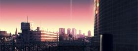 free makoto shinkai buildings facebook cover