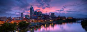 beautiful sky in the city facebook cover
