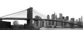 free black and white new york city facebook cover