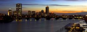 city charles river sunset facebook cover