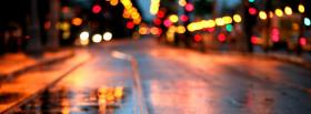 free city lights on the streets facebook cover