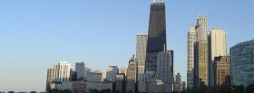 chicago city and buildings facebook cover