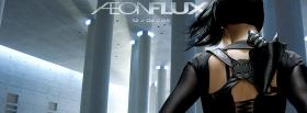 movie aeon flux back of charlize theron facebook cover