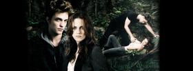 edward and bella in the forest twilight facebook cover
