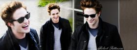 movie actor robert pattison laughing facebook cover
