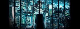 movie batman looking at the city facebook cover
