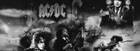 acdc black and white facebook cover