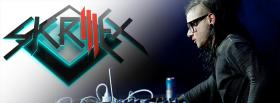 free skrillex playing music facebook cover