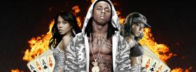 free lil wayne fire and cards music facebook cover