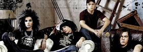 free tokio hotel group sitting facebook cover