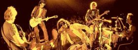 aerosmith on stage singing music facebook cover