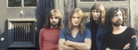 pink floyd band standing outside facebook cover