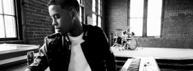 free jeremih black and white facebook cover