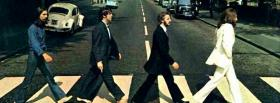 free beatles walking on the street facebook cover