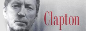 black and white clapton in red facebook cover