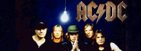 free the band acdc with light bulb facebook cover