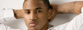 trey songz serious face music facebook cover