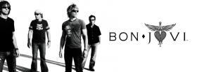 black and white bon jovi facebook cover