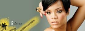 short hair rihanna music facebook cover