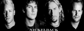 free nickelback band black and white facebook cover