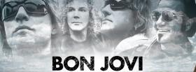 bon jovi band black and white facebook cover