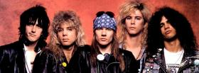 music band guns n roses facebook cover
