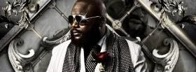 rick ross with silver backround facebook cover