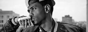 free big sean black and white facebook cover