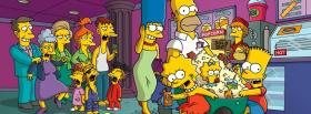 the whole cast of the simpsons facebook cover