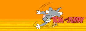free happy tom and jerry running facebook cover