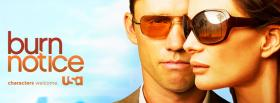 burn notice wearing sun glasses facebook cover