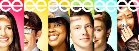 tv series glee characters facebook cover