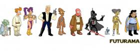 free tv shows futurama cast standing facebook cover