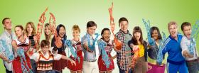 free tv shows glee cast facebook cover
